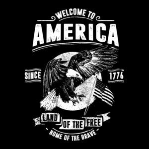 Welcome To America Home Of The Brave Land Of The Free Patriotic T-Shirt