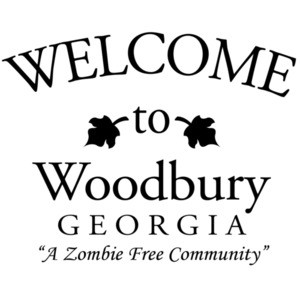 Welcome to Woodbury Georgia - a zombie free community - walking dead t-shirt