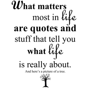 What Matters Most In Life Are Quotes And Stuff That Tell You What Life Is Really About.  Shirt