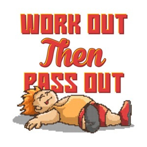 Work Out Then Pass Out Retro T-Shirt