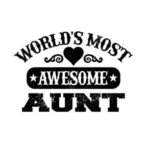 Worlds Most Awesome Aunt T-Shirt