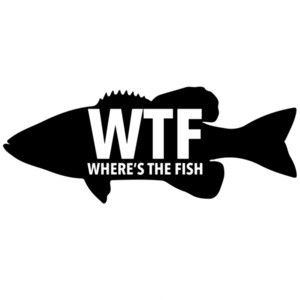 WTF - Where's the fish - funny fishing t-shirt