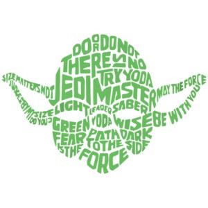 Yoda Typography - Star Wars T-Shirt shirt