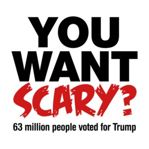 You Want Scary? 63 Million People Voted For Trump Halloween T-Shirt