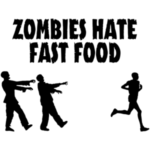 Zombies Hate Fast Food Funny T-shirt