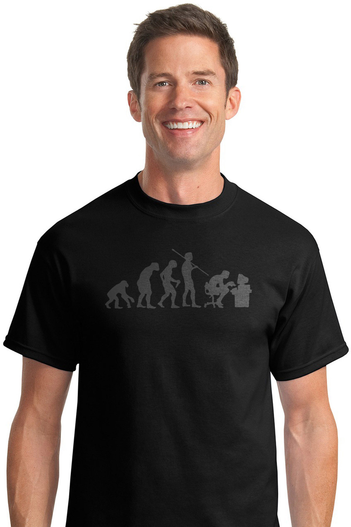 51a1a281 Evolution Computer User - Funny Evolution T-Shirt shirt