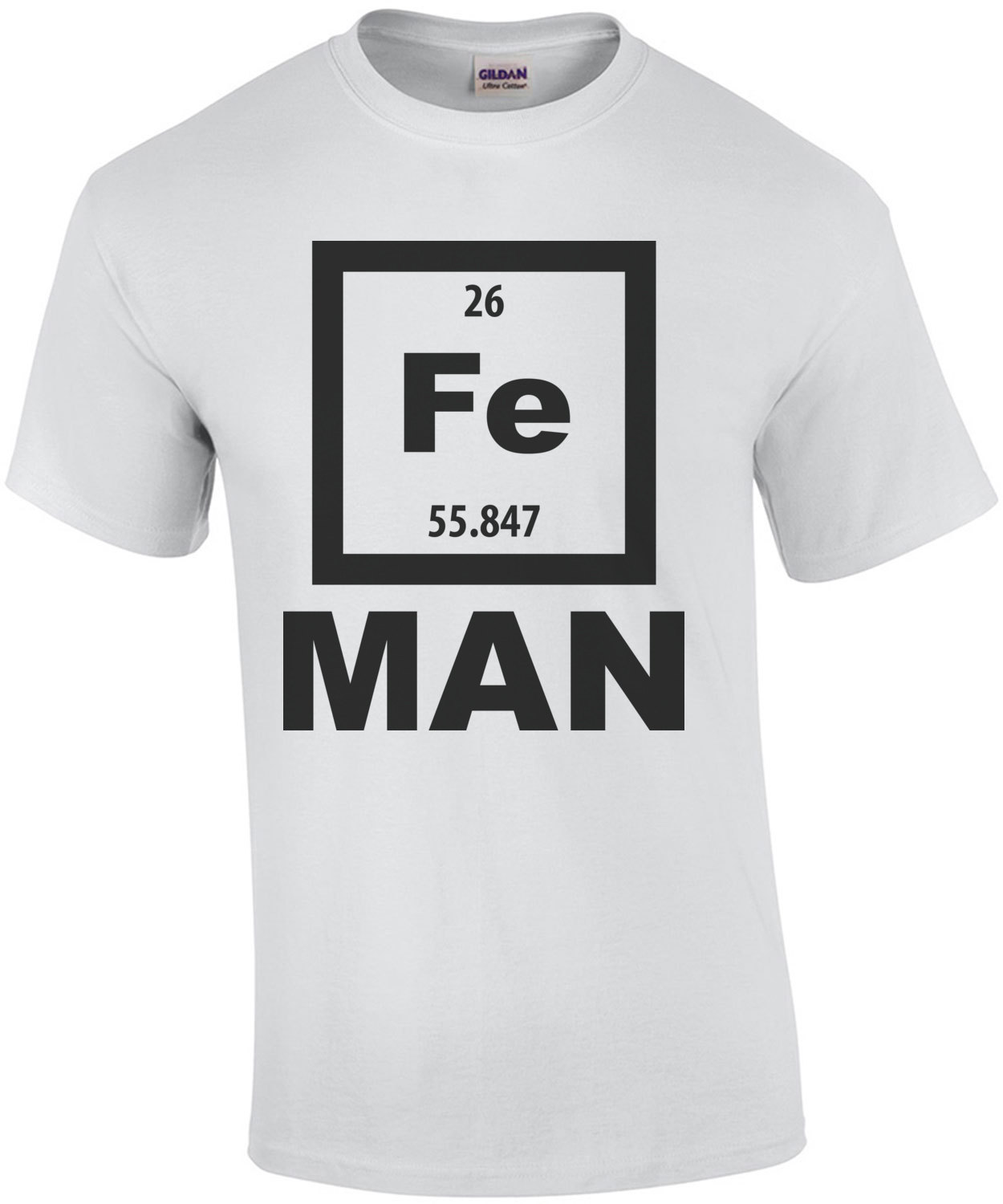 Fe man iron man element periodic table t shirt gamestrikefo Gallery