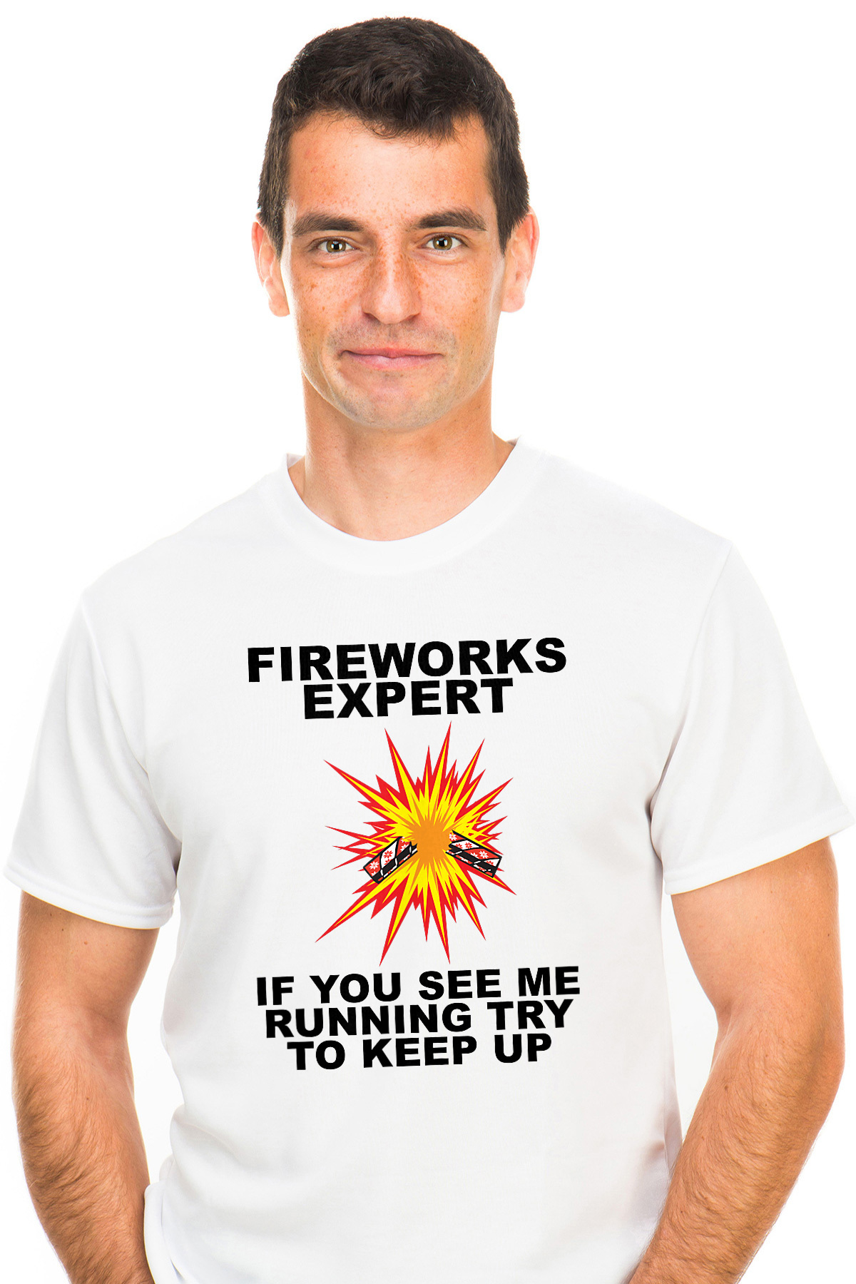 4845c20e4 Fireworks Expert If You See Me Running Try To Keep Up - Fourth Of July  T-shirt