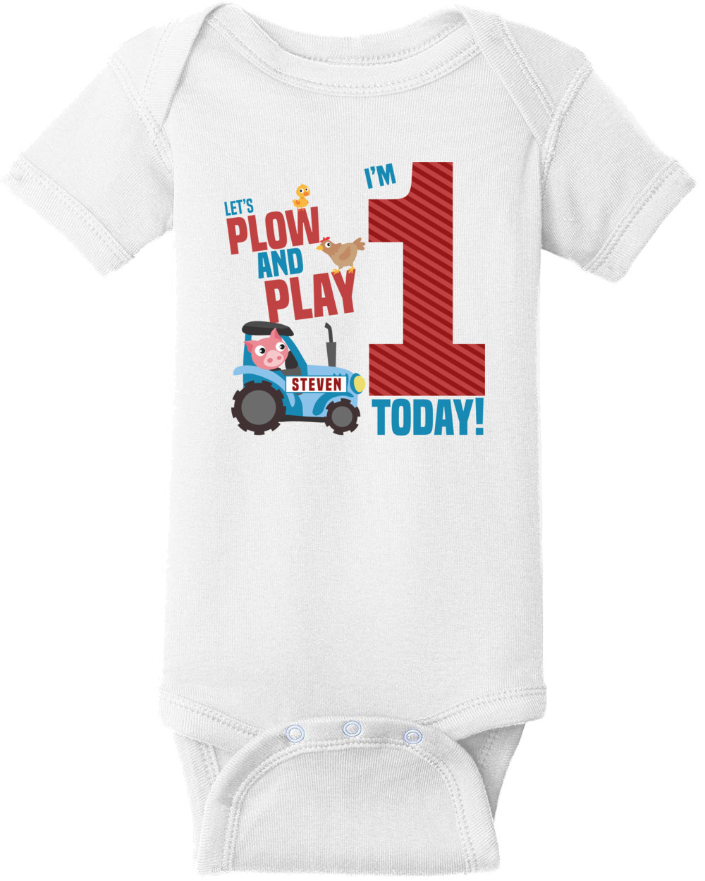First Birthday Shirt 1st Boys Happy Custom T With Your Name And Age Personalized