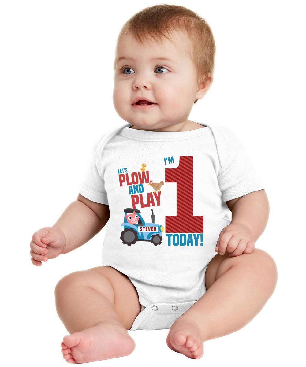 Customized 1st Birthday Shirt