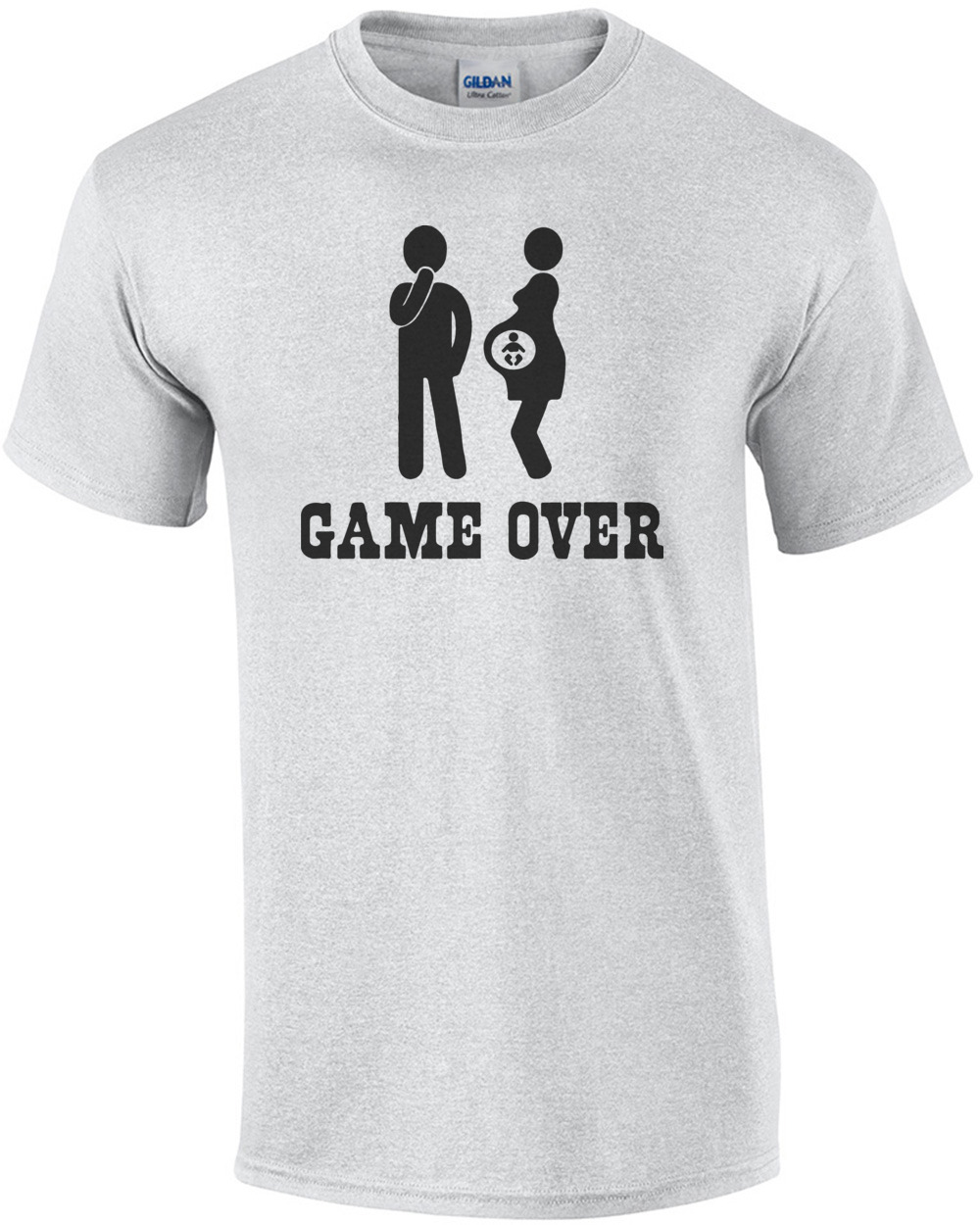 d9ccac12 Game Over - Funny Pregnancy T-Shirt shirt