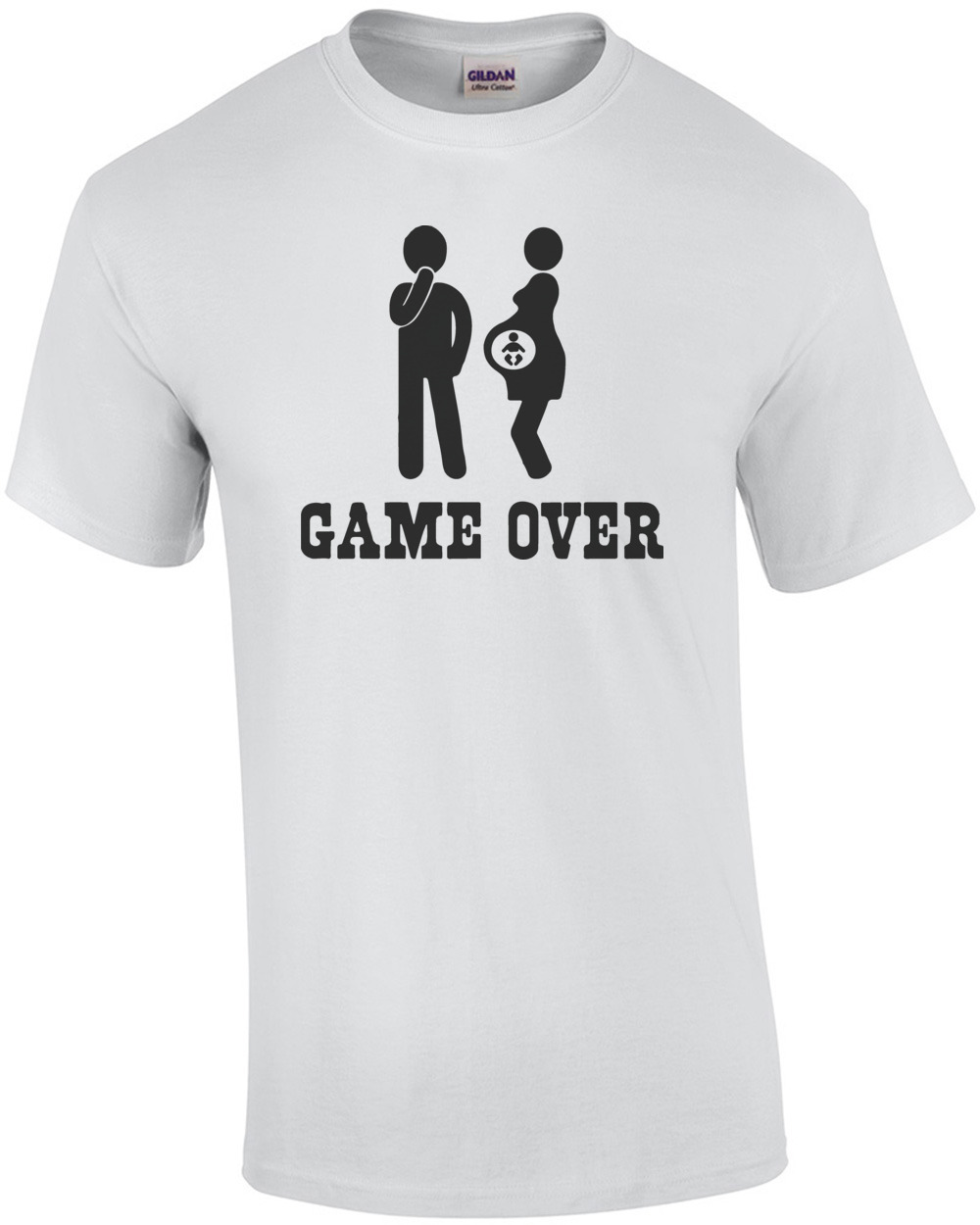 Game Over - Funny Pregnancy T-Shirt shirt