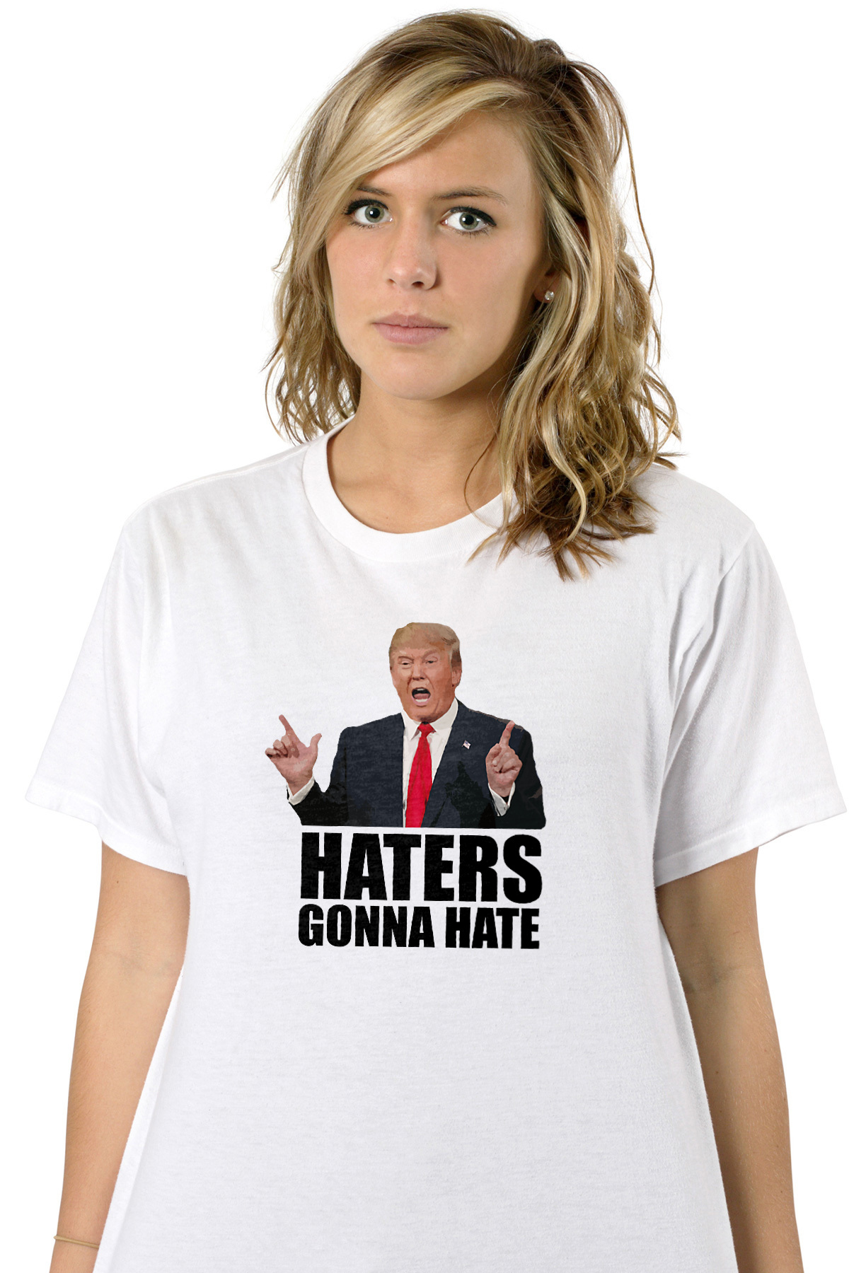 119feff66 Haters gonna hate - Donald Trump T-Shirt