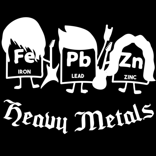 Heavy metals funny chemistry periodic table elements t shirt urtaz Gallery