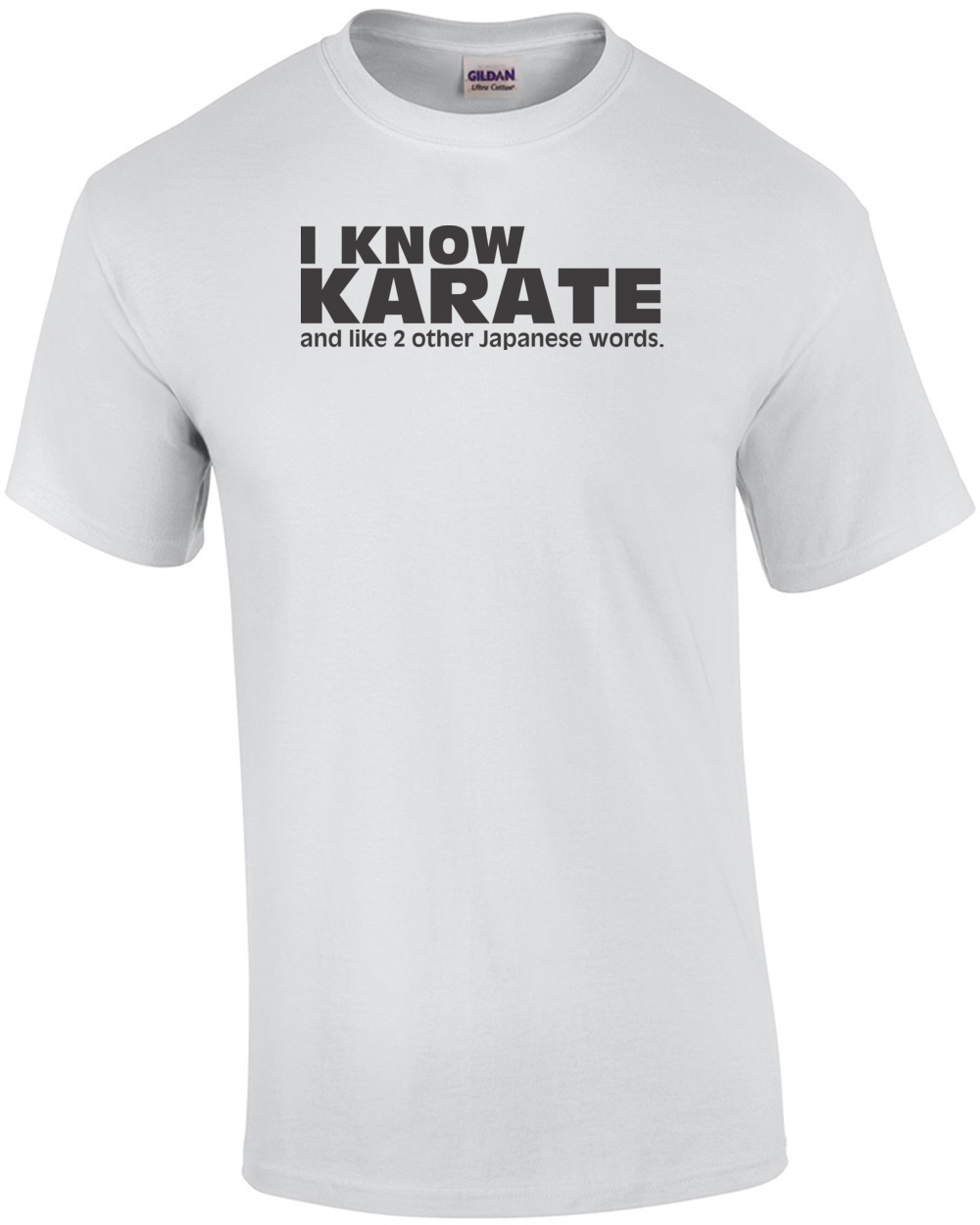 Perfect I Know Karate, And Like 2 Other Japanese Words T-shirt GK51