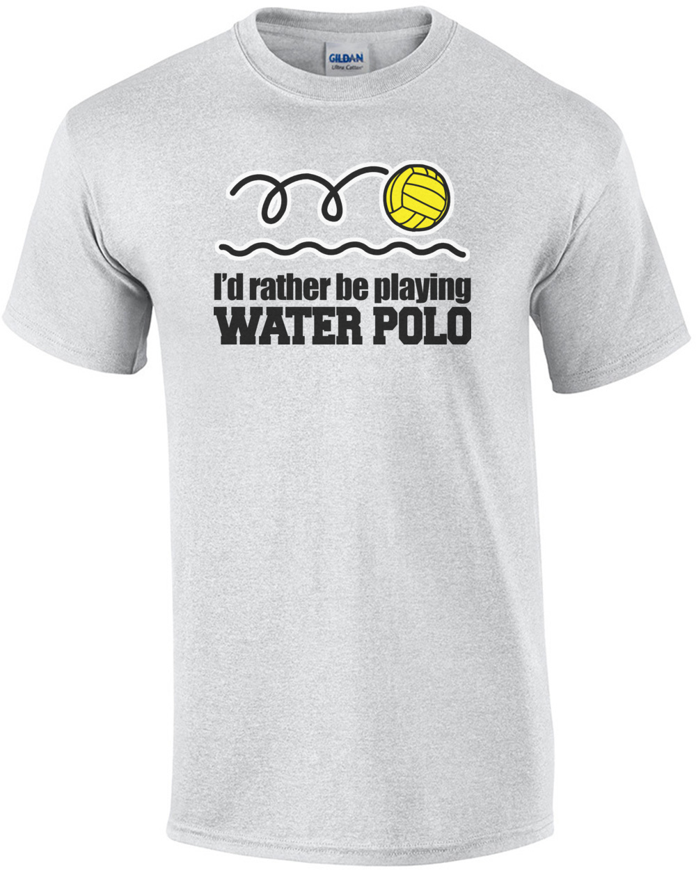 7cfece43a I'd Rather Be Playing Water Polo T-Shirt
