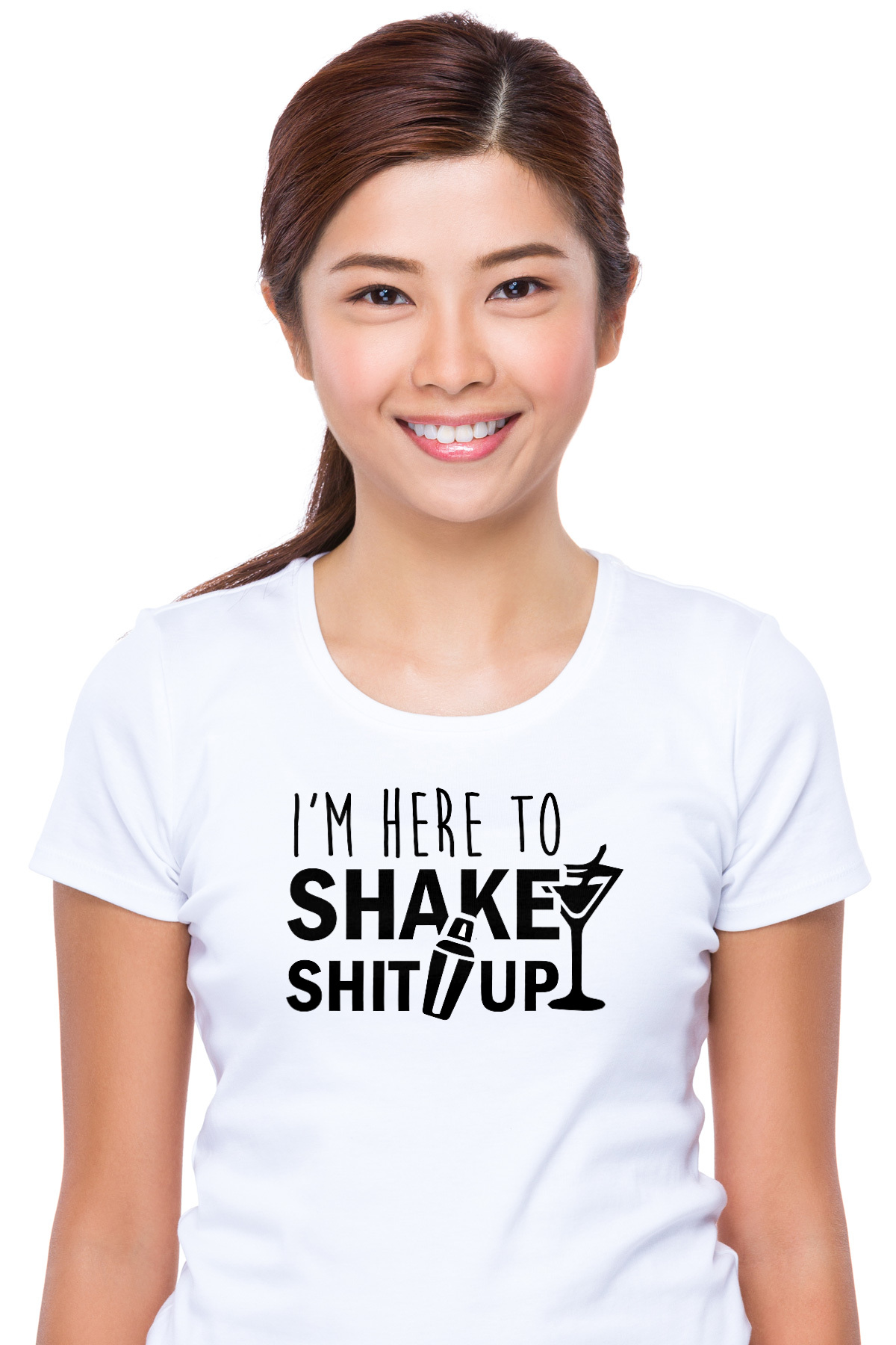 24f2168f2 I'm here to shake shit up - Funny Bartending / Bartender T-Shirt