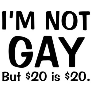 I'm Not Gay But $20 Is $20 Funny Shirt