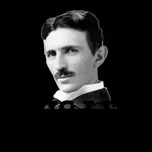aba7ebdf It's lit - Nikola Tesla T-Shirt