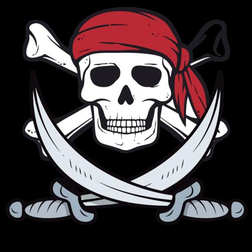 Skull /& Crossbones Buccaneer Costume Unisex T-Shirt Jolly Roger Pirate Flag