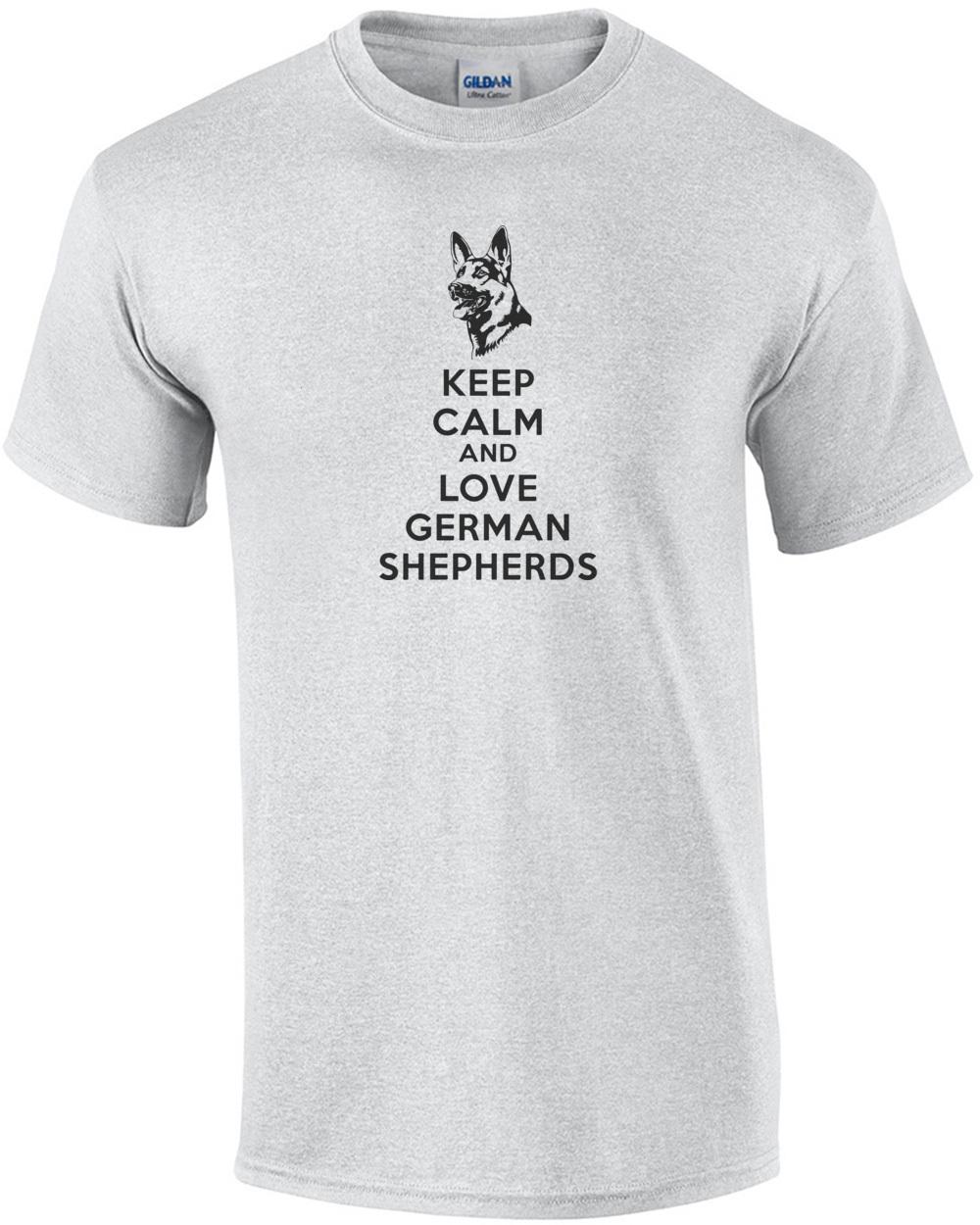 Keep Calm /& Walk German Shepherd Dog Lover Funny Ladies T Shirt