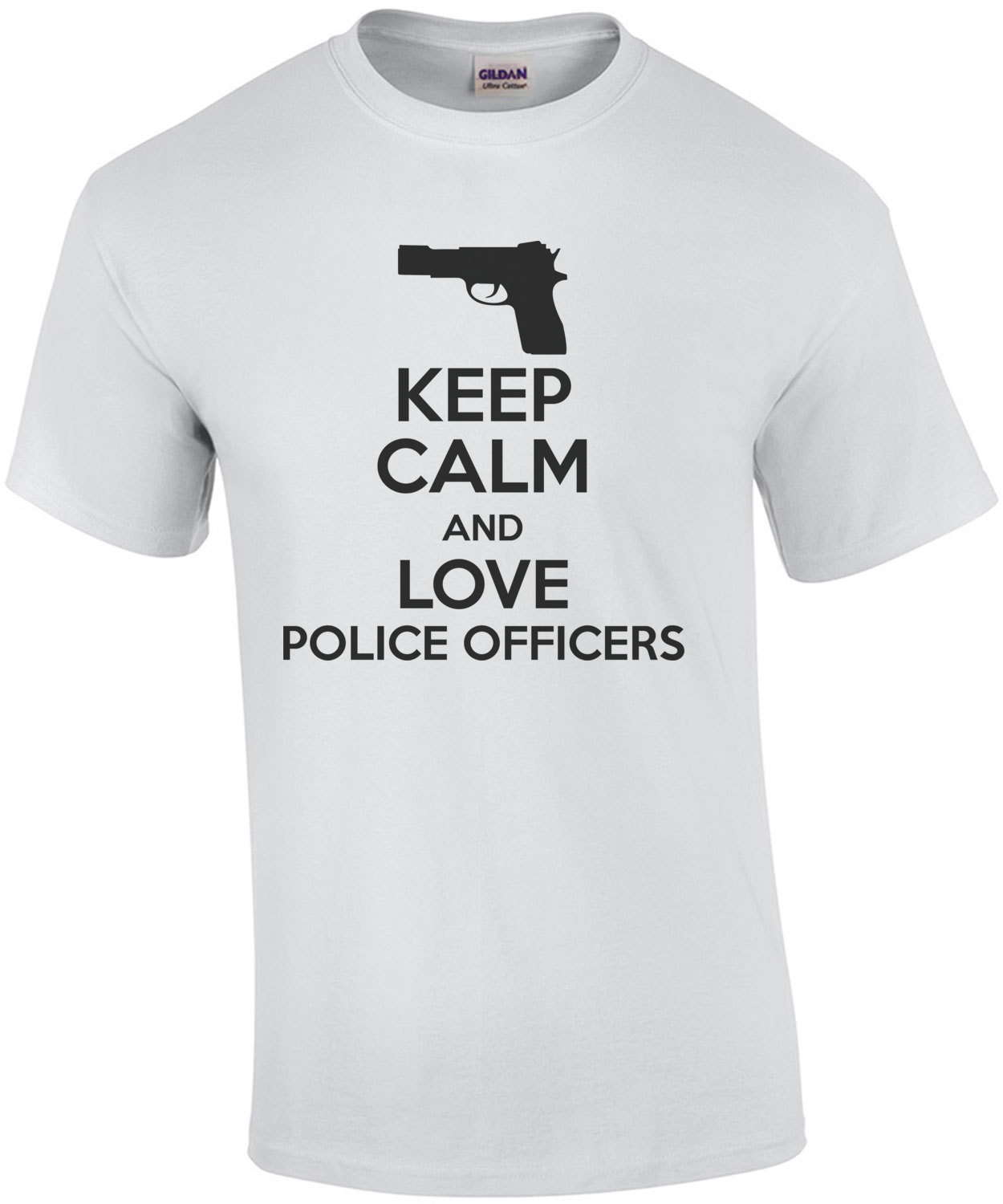Funny T-shirt KEEP CALM I AM A POLICEMAN police officer security