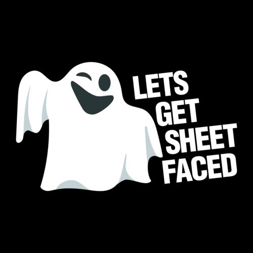 63a95f2f Lets Get Sheet Faced Halloween Shirt