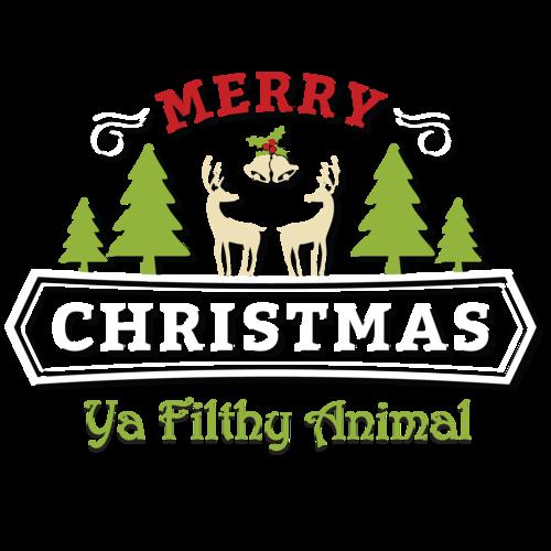 merry christmas ya filthy animal christmas t shirt