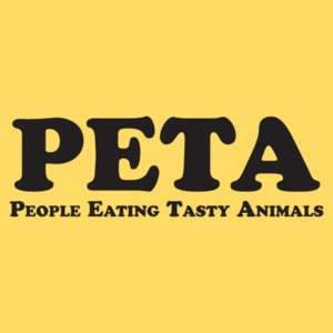 PETA - People Eating Tasty Animals T-shirt