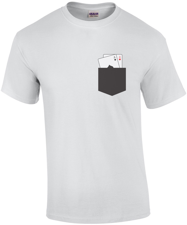 Completely new Pocket Aces - Poker T-Shirt shirt HZ83