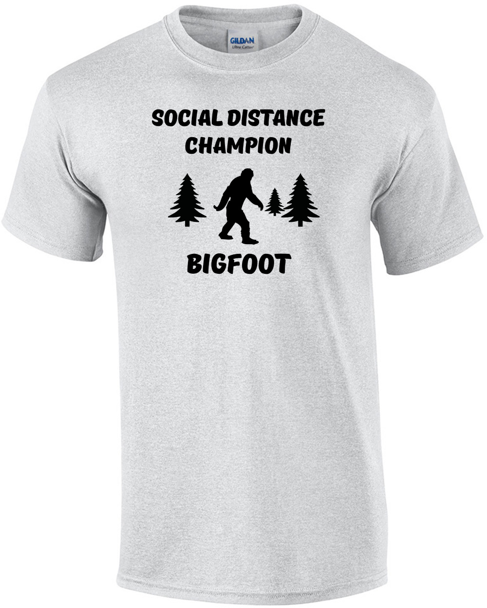 Big Foot Social Distance Winner Men/'s T-Shirt