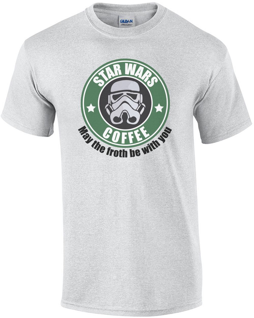 e34d7441 Star Wars Coffee - May the froth be with you Star Wars T-Shirt shirt