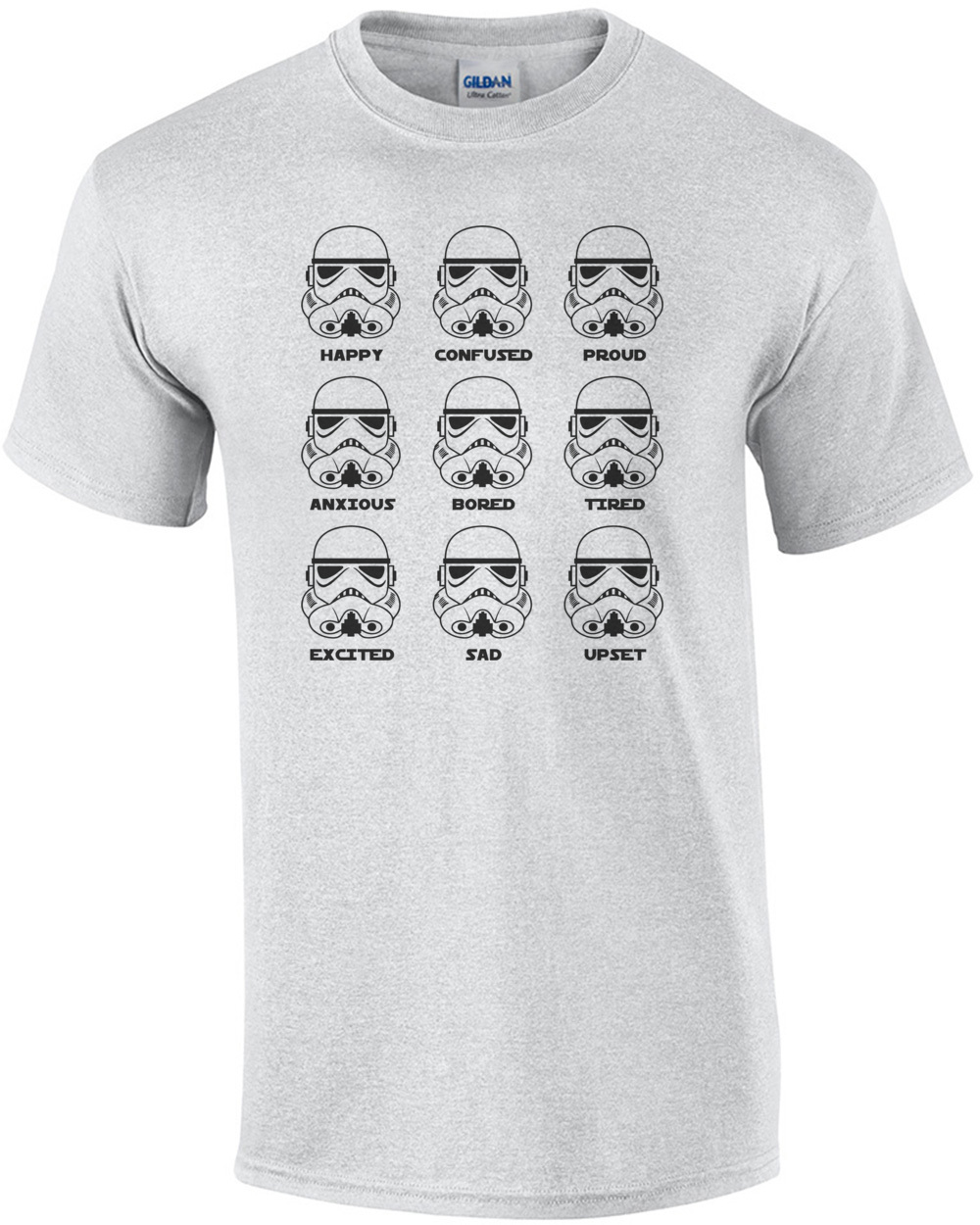 ad63a941 Stormtrooper Emotions - Funny Star Wars T-Shirt