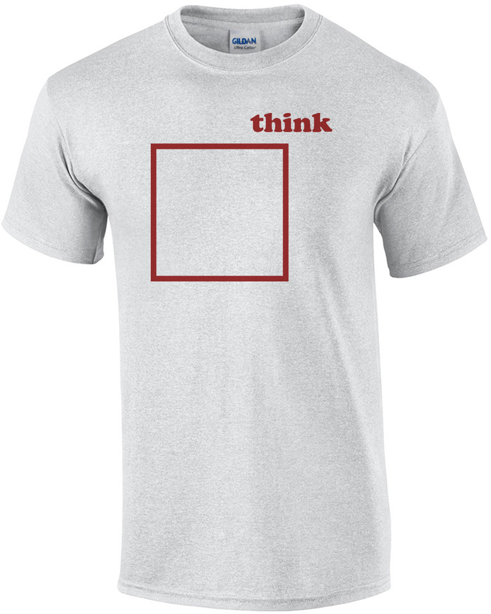a06f368c3 Think outside the box - Funny T-Shirt shirt