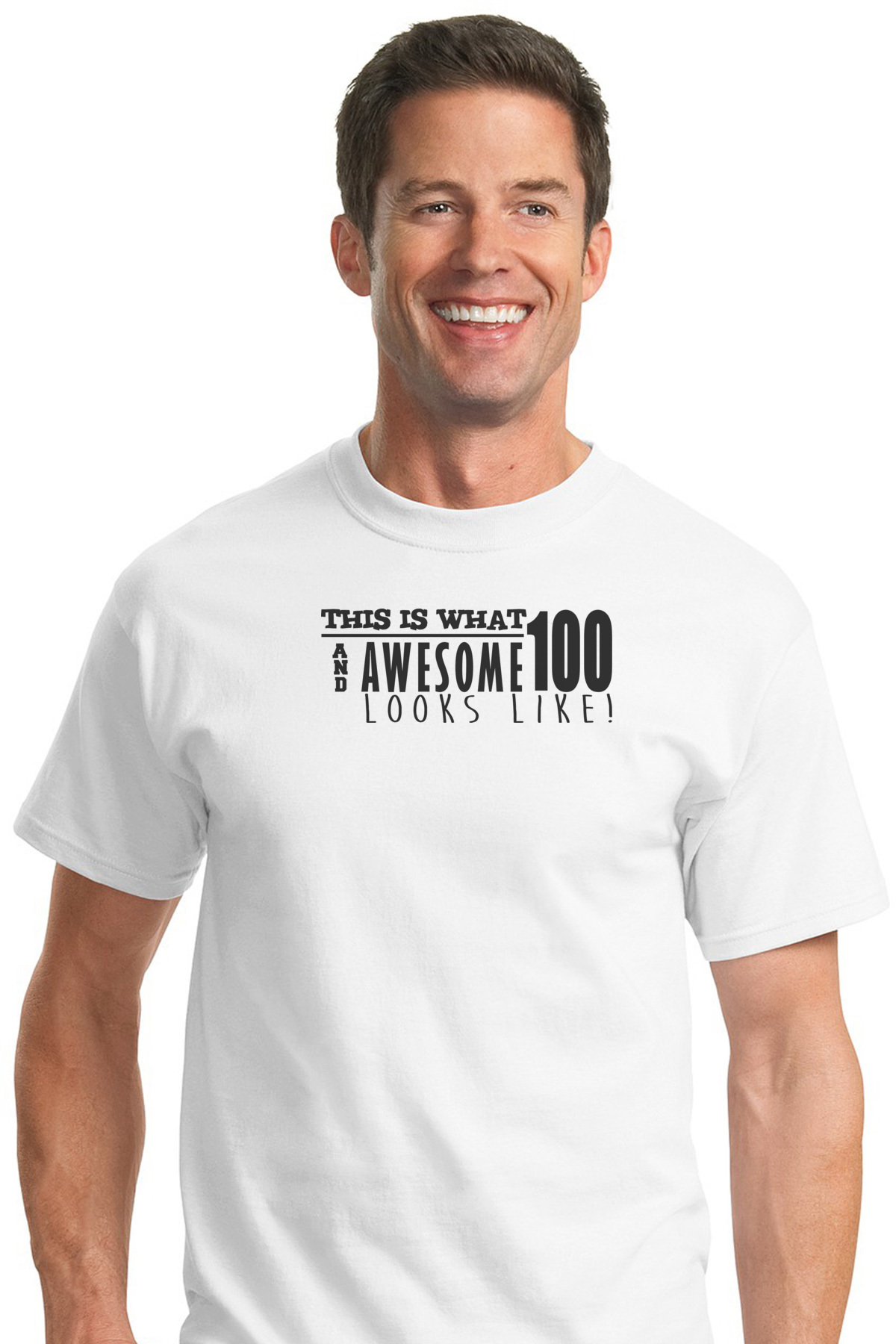 This Is What 100 And Awesome Looks Like 100th Birthday T Shirt