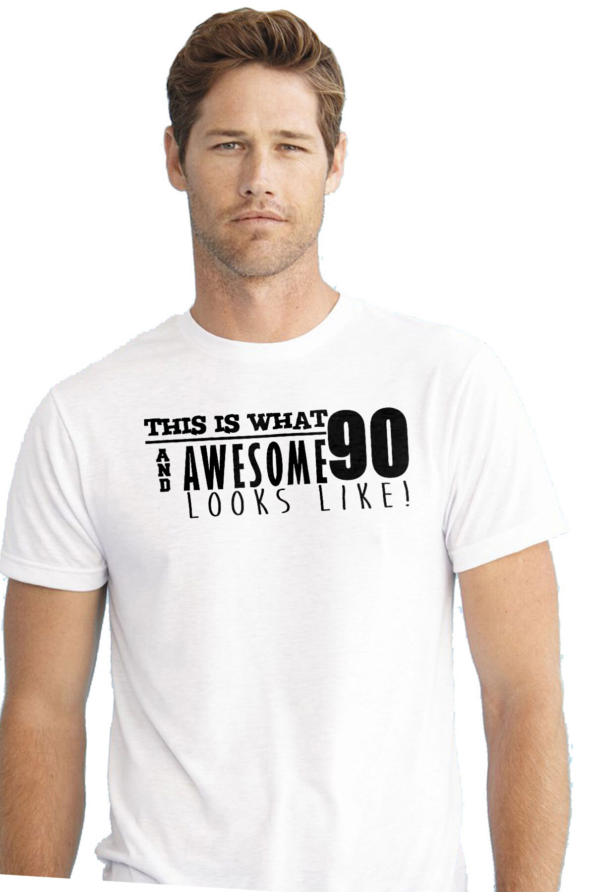 6402ce84 This is what 90 and awesome looks like 90th birthday t-shirt - happy birthday  90