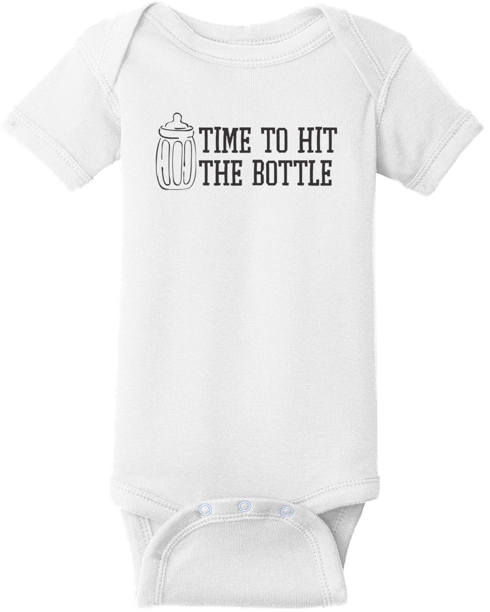 15ebe284 Time To Hit The Bottle - Funny Baby T-Shirt