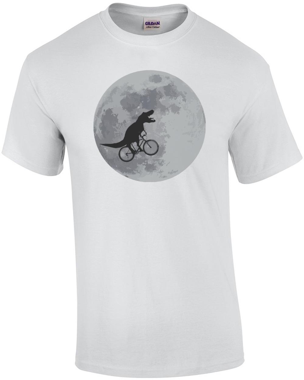 t rex tyrannosaurus rex bicycle moon shirt