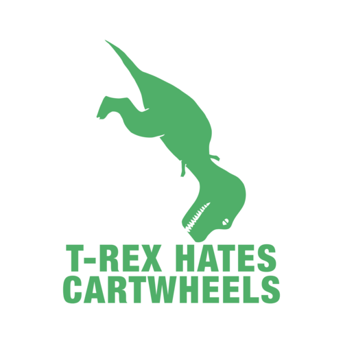 t rex hates cartwheels shirt