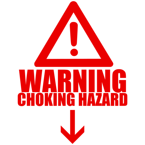 Warning Choking Hazard Below Shirt