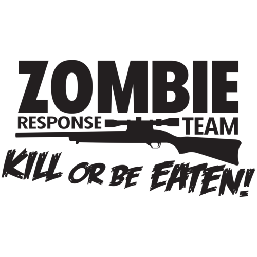 zombie decals kill or be eaten - 500×500