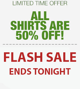 50% off all shirts